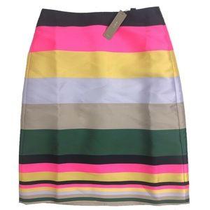 J Crew Womens A-Line Skirt Pop Stripe multi-color